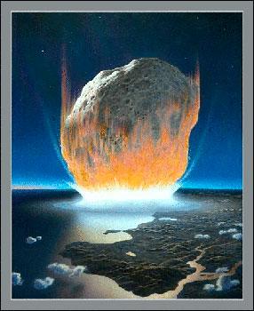 asteroid hitting earth dust - photo #37