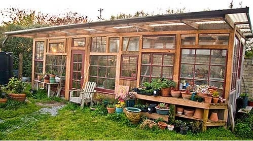 Build A Window Pane Greenhouse Out Of Discarded Windows